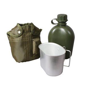 Армійська фляга в чохлі з кружкою Олива