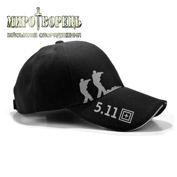 Тактична бейсболка 5.11 чорна