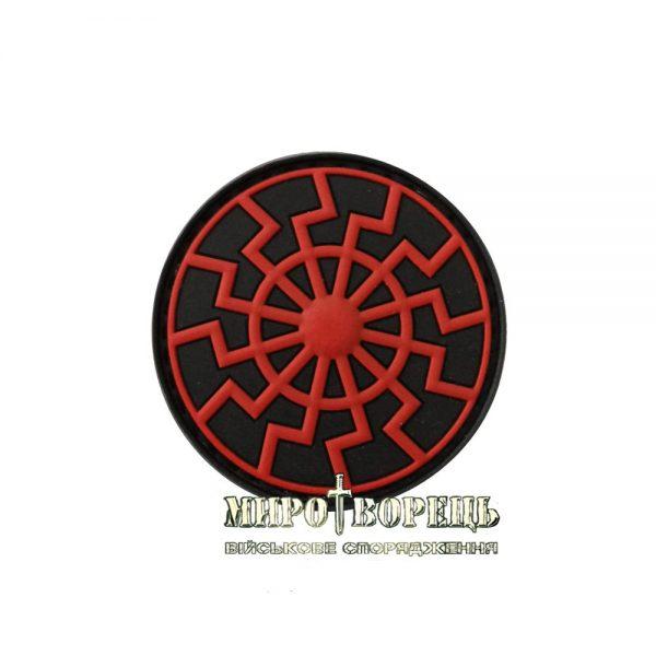 Шеврон Чорне Cонце ПВХ Black/Red