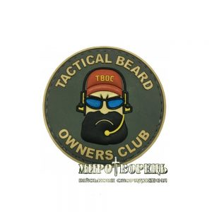Шеврон Tactical Beard Owners Club TBOC ПВХ olive