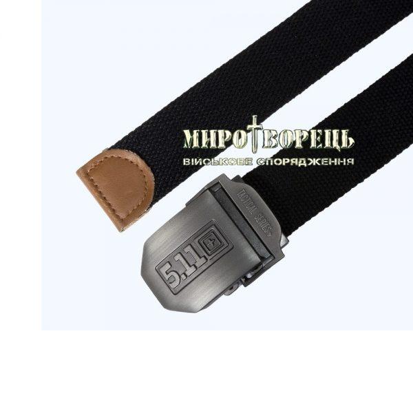 Ремінь тактичний 5.11 з металевою пряжкою, чорний