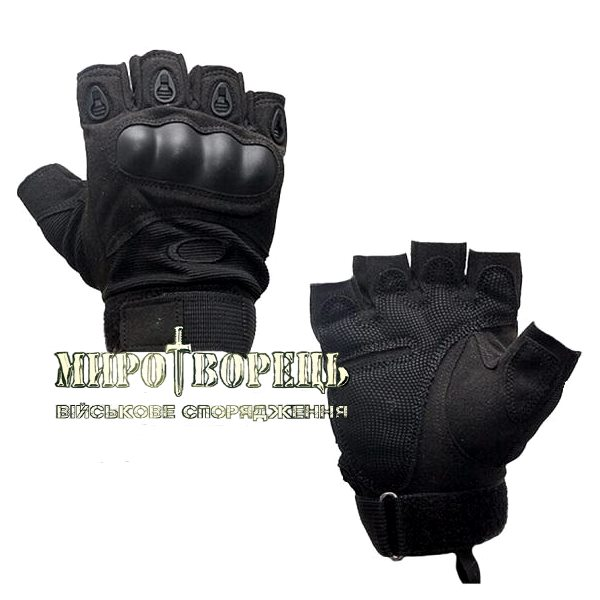 Рукавиці тактичні Oakley (без пальців) Чорні