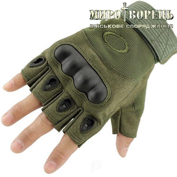 Рукавиці тактичні Oakley (без пальців) Олива