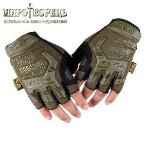 Рукавиці тактичні Mechanix M-pact Fingerless (безпалі) Olive