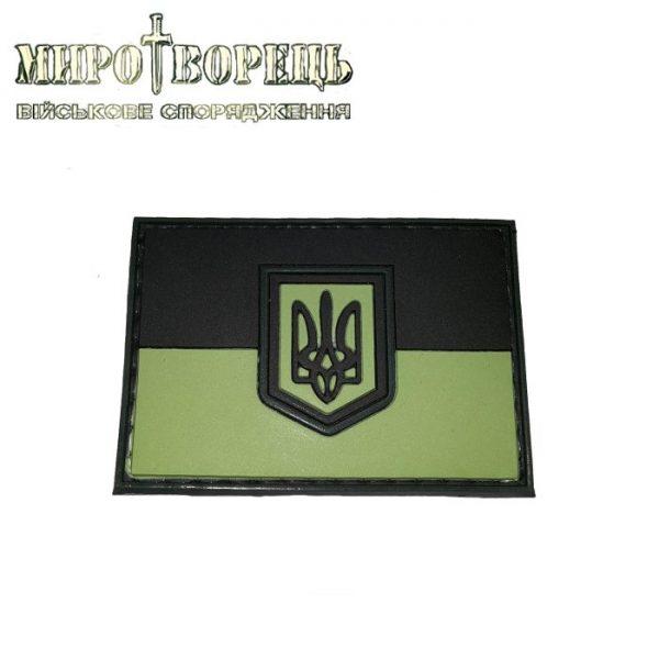 Шеврон Прапор України ПВХ олива