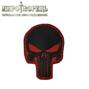 Шеврон Punisher ПВХ червоно-чорний