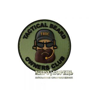 Шеврон Tactical Beard Owners Club TBOC ПВХ Green