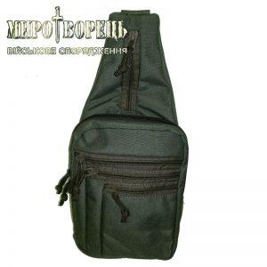 Тактична плечова сумка для прихованого носіння зброї. олива